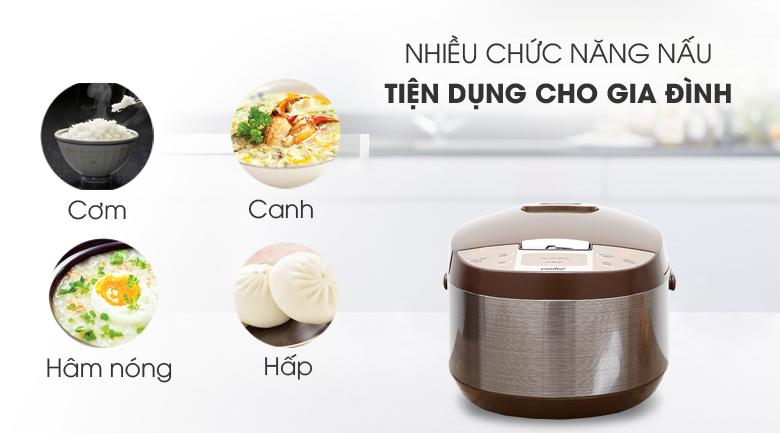 Nồi cơm điện tử Comfee 1.8 lít CR-FD1820C - Chức năng nấu đa dạng