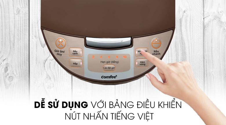 Nồi cơm điện tử Comfee 1.8 lít CR-FD1820C - Nút nhấn điều khiển