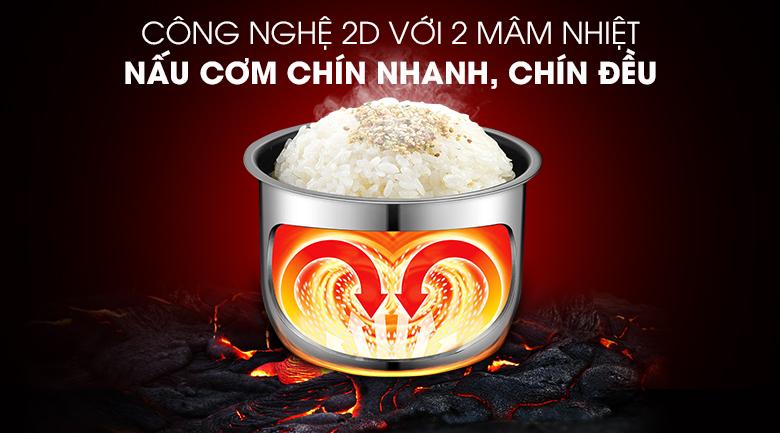 Nồi cơm điện tử Comfee 1.8 lít CR-FD1820B - Công nghệ nấu 2D