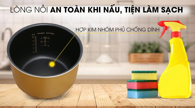 Lòng nồi dày dặn, chống dính - Nồi cơm điện tử Comfee 1.8 lít CR-FD1820B