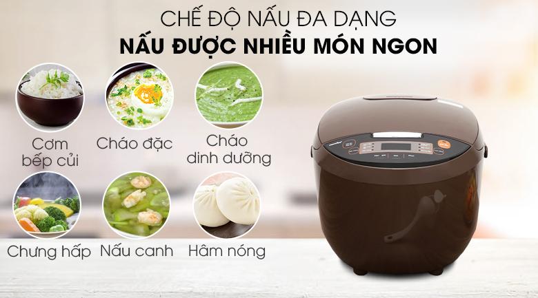 Chức năng nấu đa dạng - Nồi cơm điện tử Comfee 1.8 lít CR-FD1820B