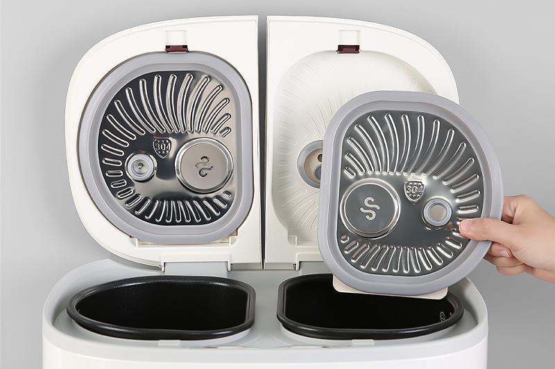 Nắp nồi tháo rời - Nồi cơm điện tử 2 ngăn đa năng Sharp 1.8 lít KN-TC50VN-SL Trắng