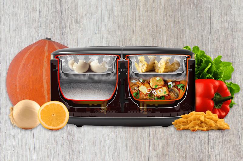 Nấu được 4 món Sharp 1.8 lít KN-TC50VN-SL Bạc