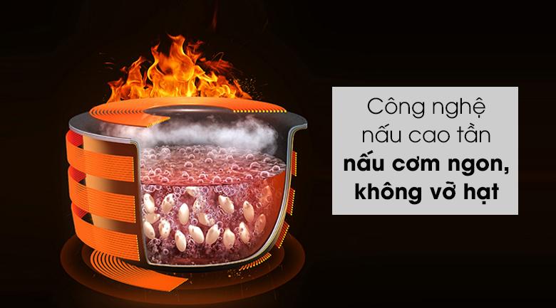 Nồi cơm cao tần Sharp 1.8 lít KS-IH191V-BK - Cơm nấu chín ngon, nhanh, lưu giữ lại nhiều dưỡng chất có trong thực phẩm nhờ công nghệ nấu cao tần IH