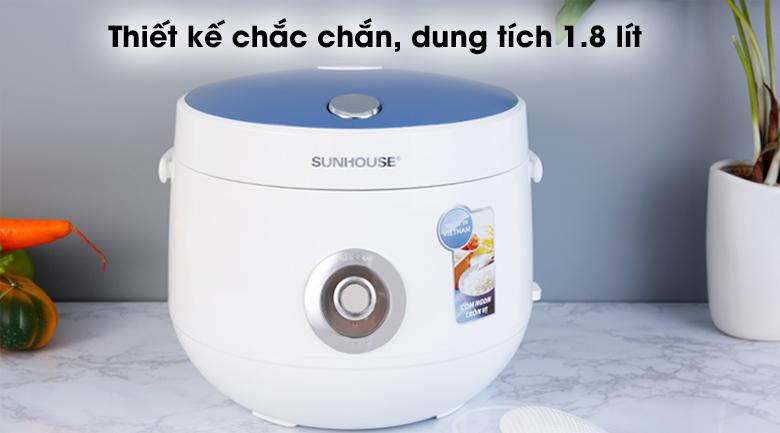 Nồi cơm nắp gài Sunhouse SHD8606 1.8 lít - Màu bạc - xanh lạ mắt, chắc chắn