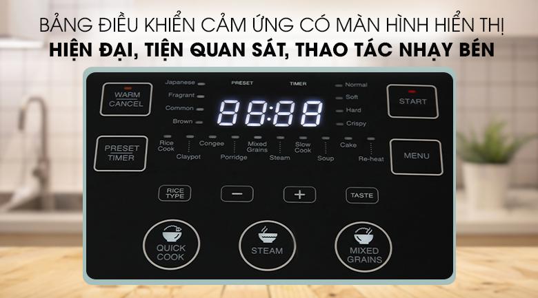Bảng điều khiển cảm ứng nồi cơm cao tần Sharp KS-IH191V-RD 1.8 lít