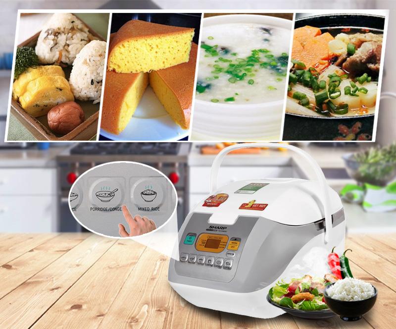 6 chức năng nấu tự động tiện dụng