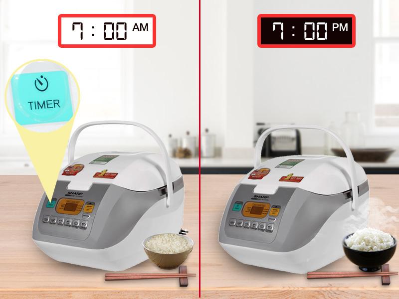Hẹn giờ nấu tự động tiện lợi