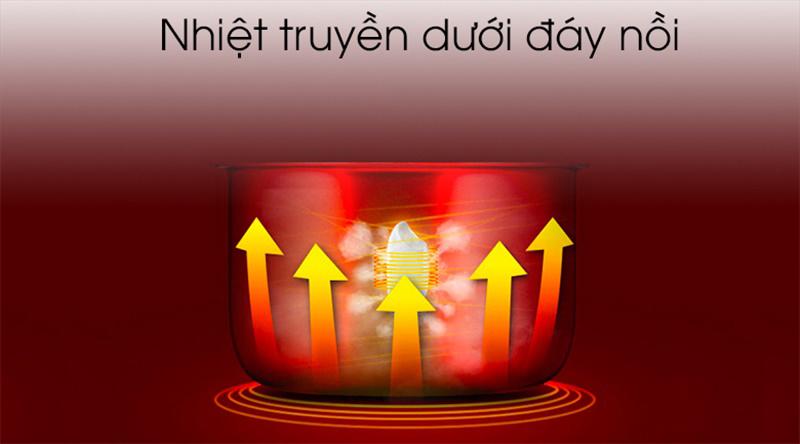 Công suất 650 W, 1 mâm nhiệt giúp nấu cơm chín nhanh - Nồi cơm điện Cuckoo 2 lít CR-1122