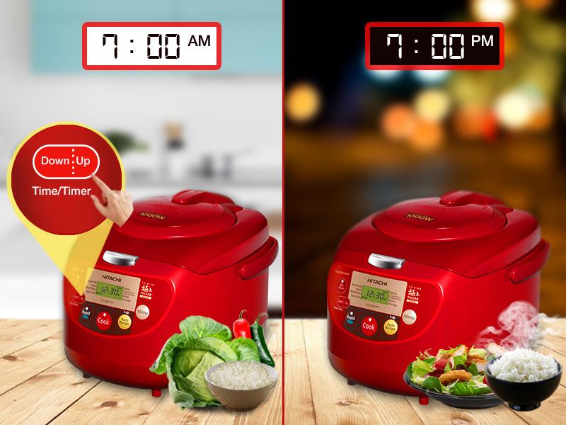 Chế độ hẹn giờ nấu cho người bận rộn