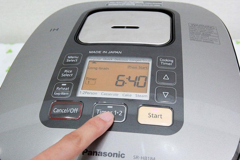 Chức năng chọn giờ nấu tự động hiện đại giúp tiết kiệm thời gian và điện năng khi sử dụng