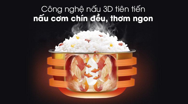 Công nghệ nấu 3D - Nồi cơm điện Sunhouse 1.8 lít SHD 18S
