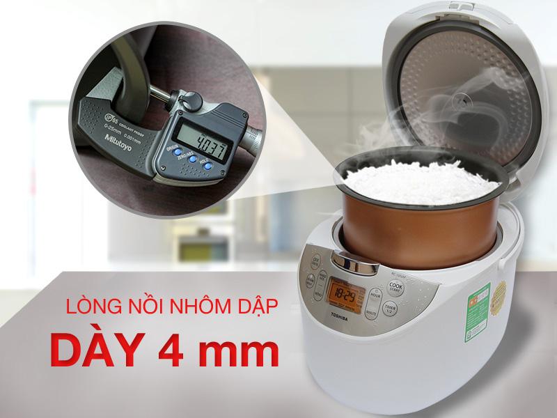 Lòng nồi bằng nhôm dập tráng Fluorocarbon resin chống dính dày 4 mm, dễ vệ sinh