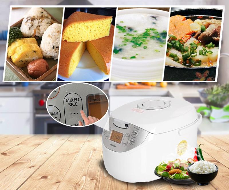 Chức năng nấu đa dạng, điều khiển bằng nút nhấn điện tử