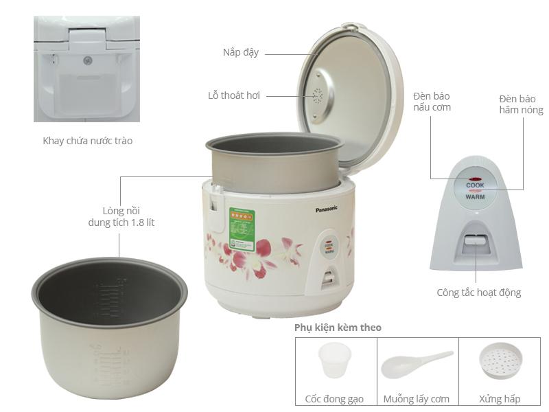 Thông số kỹ thuật Nồi cơm điện Panasonic 1.8 lít SR-MEV18HRA