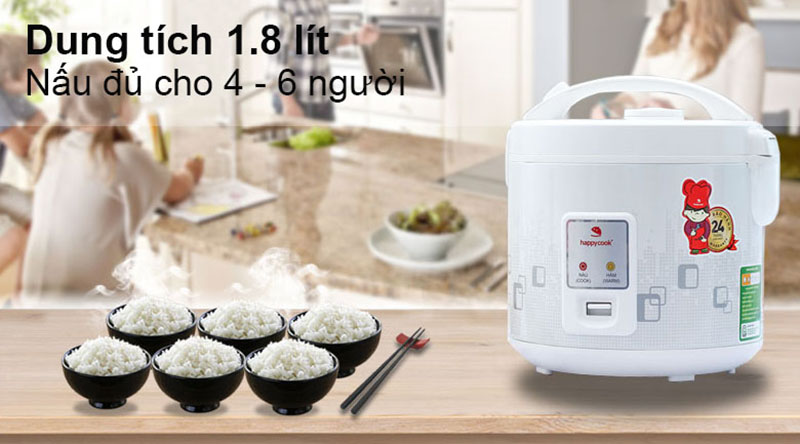 Thiết kế - Nồi cơm điện Happycook 1.8 lít HCJ-180