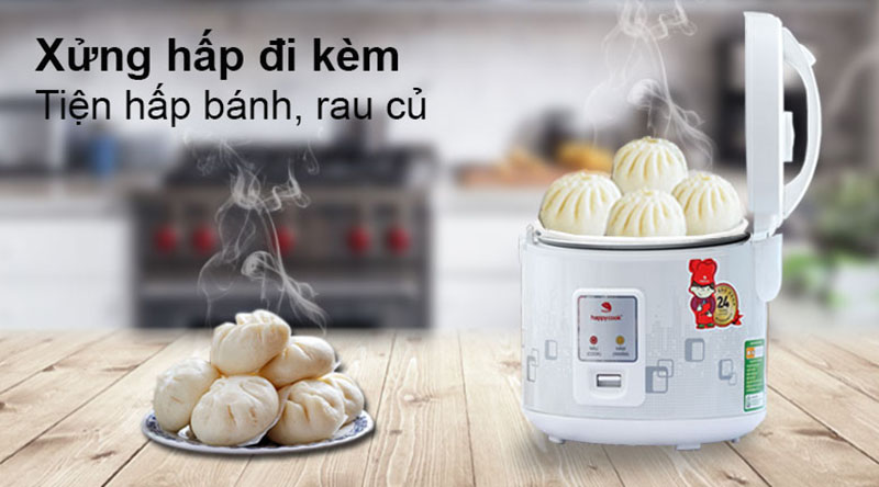 Xửng hấp - Nồi cơm điện Happycook 1.8 lít HCJ-180