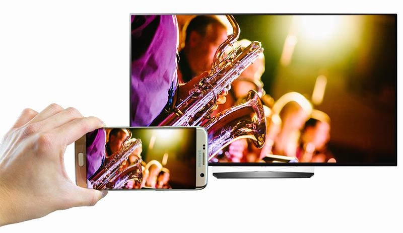 Chiếu màn hình từ điện thoại tivi