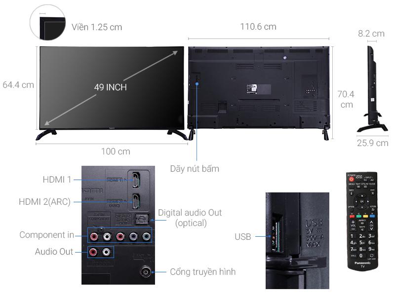 Thông số kỹ thuật Tivi Panasonic 49 inch TH-49E410V