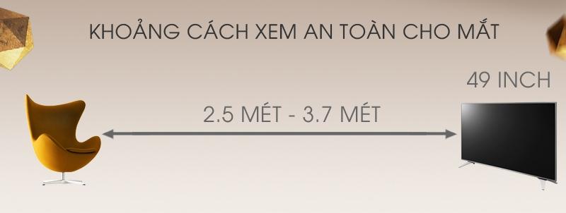 Smart Tivi Skyworth 43 inch 43S3A – Khoảng cách hợp lý xem tivi