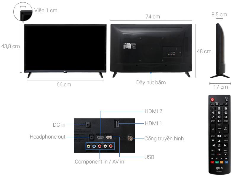 Thông số kỹ thuật Tivi LG 32 inch 32LJ510D
