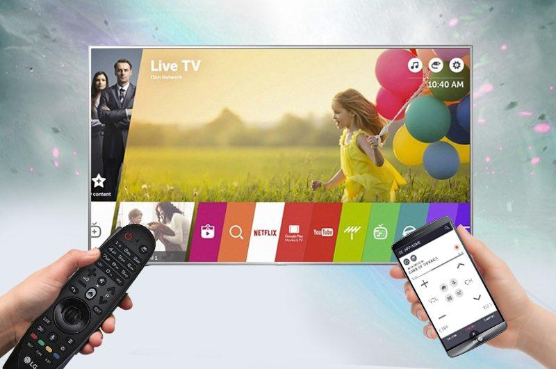 Smart Tivi LG 55 inch 55LJ550T – Điều khiển tivi bằng điện thoại