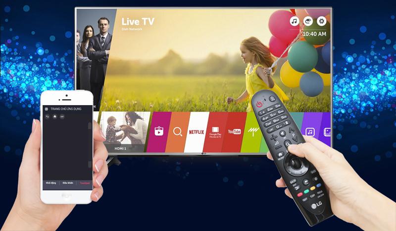 Smart Tivi LG 4K 55 inch 55UJ632T - Điều khiển tivi qua điện thoại