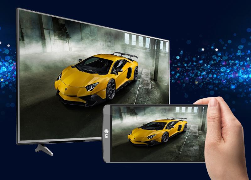 Smart Tivi LG 4K 55 inch 55UJ632T - Chiếu màn hình điện thoại lên tivi