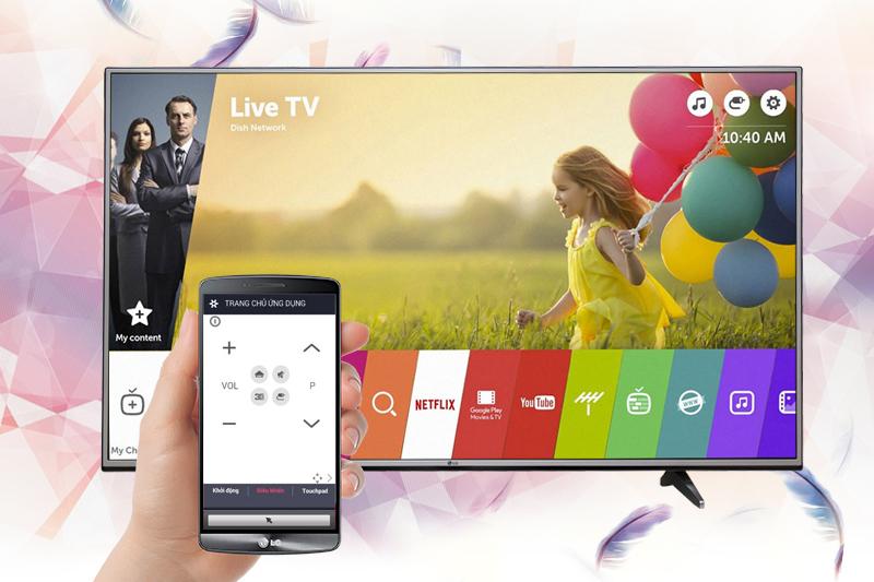Smart Tivi LG 4K 65 inch 65UJ632T - Khả năng điều khiển tivi thông qua điện thoại