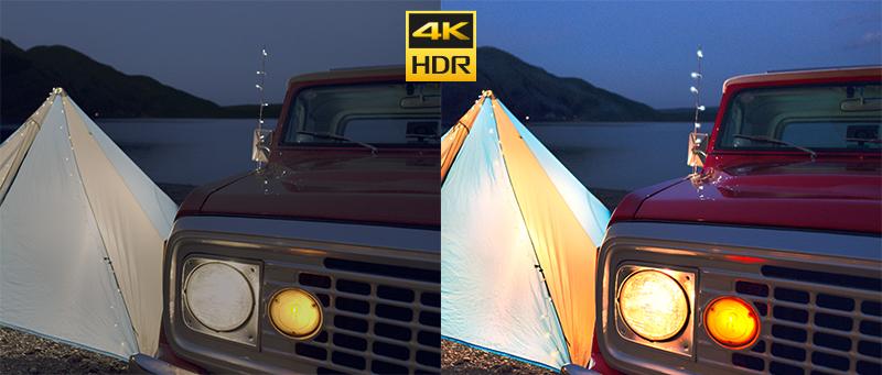 4K HDR cho hình ảnh có độ tương phản tốt
