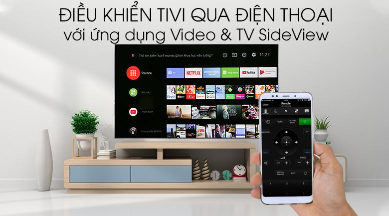Android Tivi OLED Sony 4K 55 inch KD-55A1 - Sony Video & TV SideView