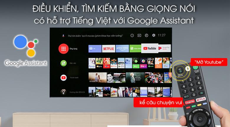 Android Tivi OLED Sony 4K 55 inch KD-55A1 - Điều khiển, tìm kiếm giọng nói tiếng Việt thân thiện dễ dàng với remote và Google Assistant