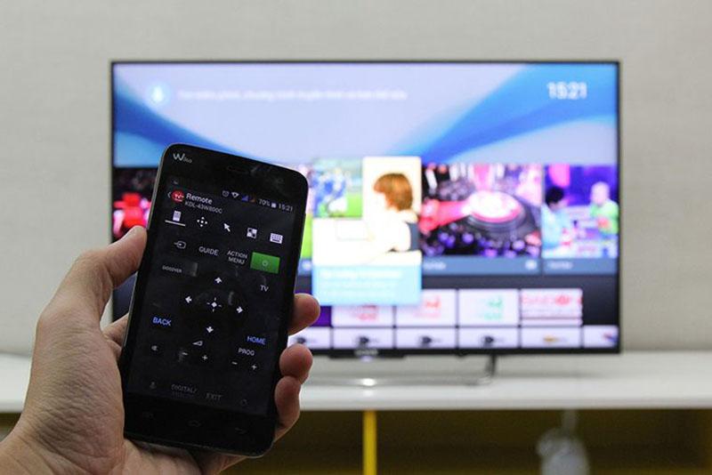Điều khiển tivi bằng điện thoại với ứng dụng Sony Video & TV SideView