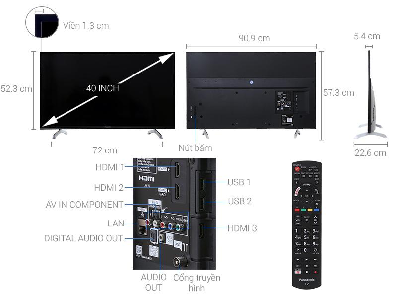 Thông số kỹ thuật Smart Tivi Panasonic 40 inch TH-40ES501V