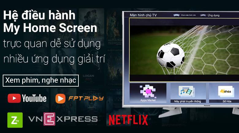 Smart Tivi Panasonic 49 inch TH-49ES630V giao diện My Home Screen dễ dàng sử dụng