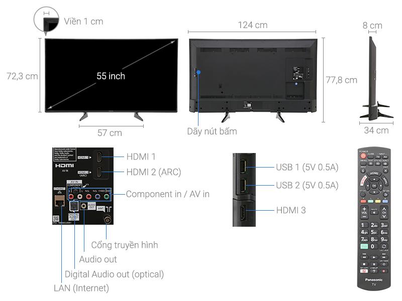 Thông số kỹ thuật Smart Tivi Panasonic 55 inch TH-55ES600V