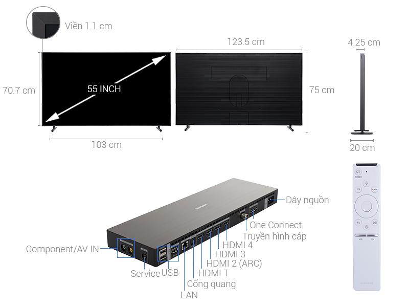 Thông số kỹ thuật Smart Tivi Samsung 4K 55 inch UA55LS003
