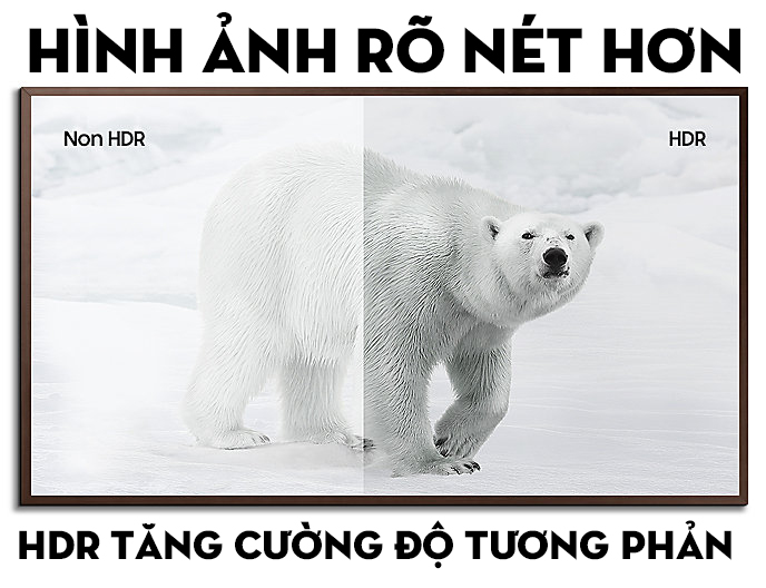 Hình ảnh rõ nét hơn với HDR
