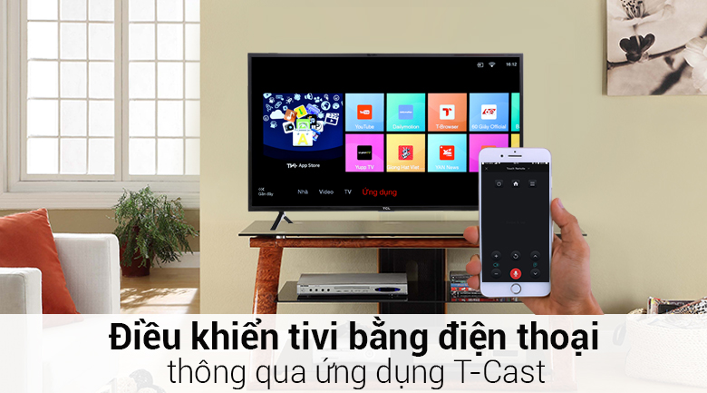 Smart Tivi TCL 40 inch L40S62 - điều khiển điện thoại