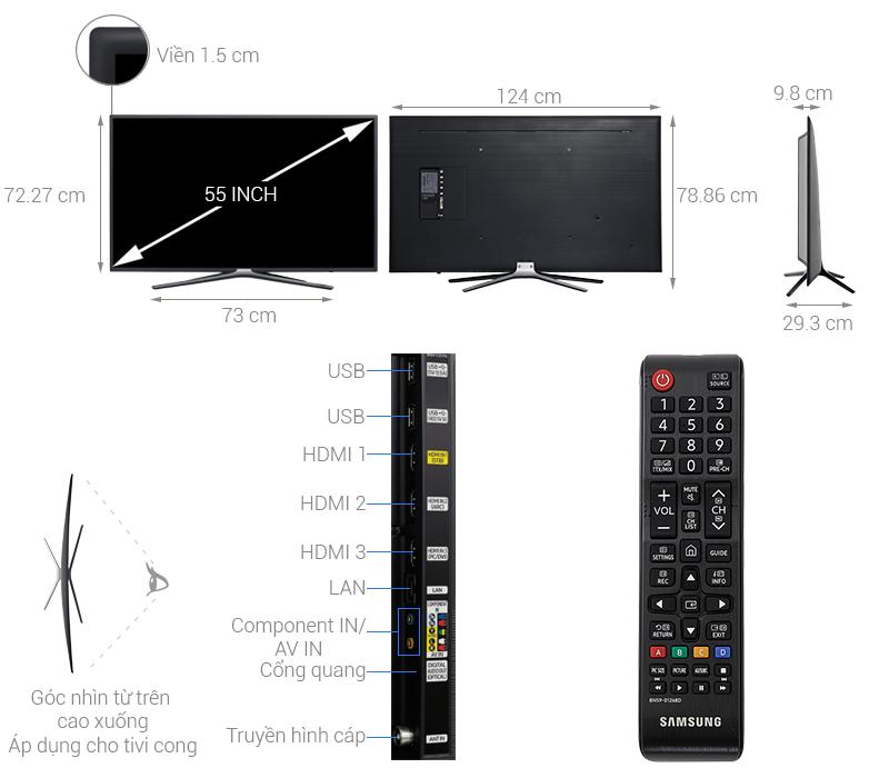 Thông số kỹ thuật Smart Tivi Cong Samsung 55 inch UA55M6303
