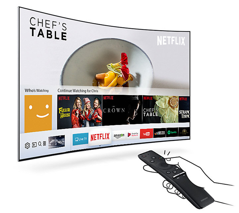Smart Tivi cong Samsung 55 inch UA55M6303 – Giao diện Smart Hub