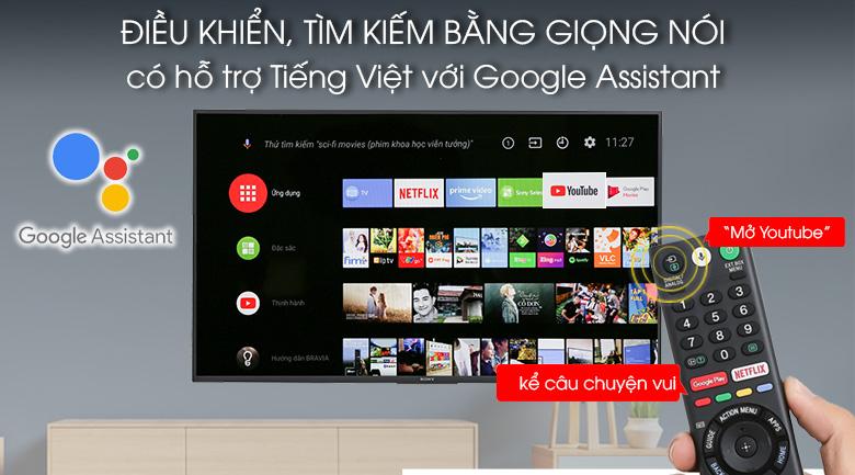 Hỗ trợ điều khiển, tìm kiếm bằng giọng nói bằng tiếng Việt trên Android Tivi Sony 43 inch KDL-43W800F