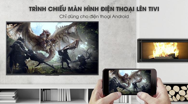 Chiếu màn hình điện thoại lên Android Tivi Sony 43 inch KDL-43W800F