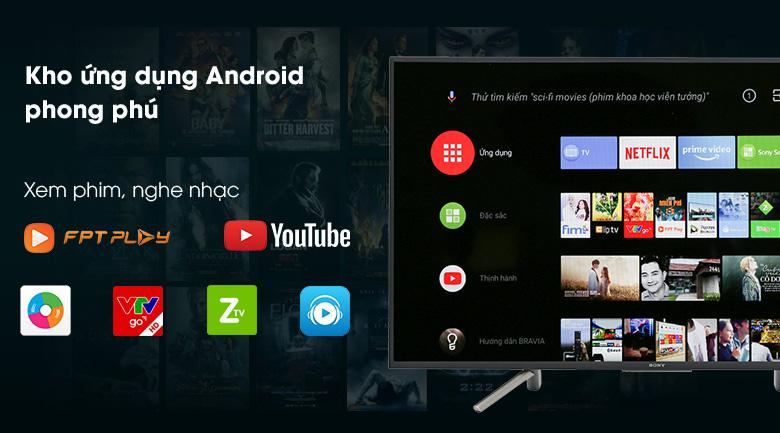 Hệ điều hành Android 8.0 trên Android Tivi Sony 49 inch KDL-49W800F