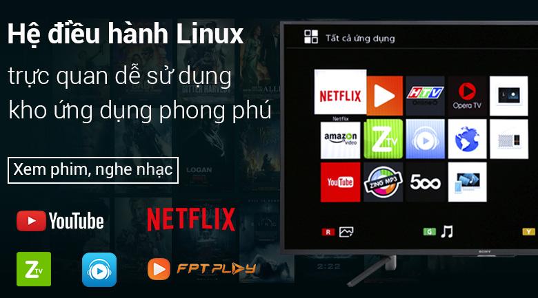 Hệ điều hành Linux trên Smart Tivi Sony 43 inch KDL-43W660F