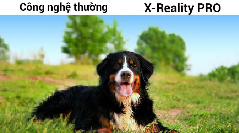 Công nghệ nâng cấp hình ảnh X-Reality Pro trên Smart Tivi Sony 50 inch KDL-50W660F