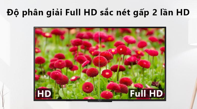 độ phân giải màn hình Full HD trên Smart Tivi Sony 50 inch KDL-50W660F