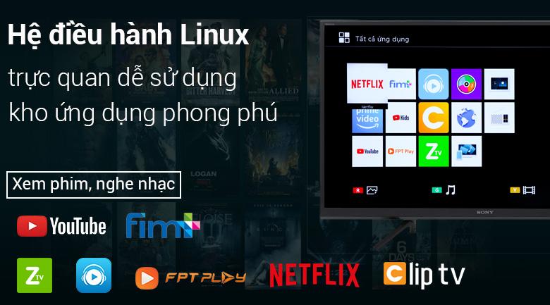 Smart Tivi Sony 32 inch KDL-32W610F - Hệ điều hành Linux đơn giản, dễ sử dụng