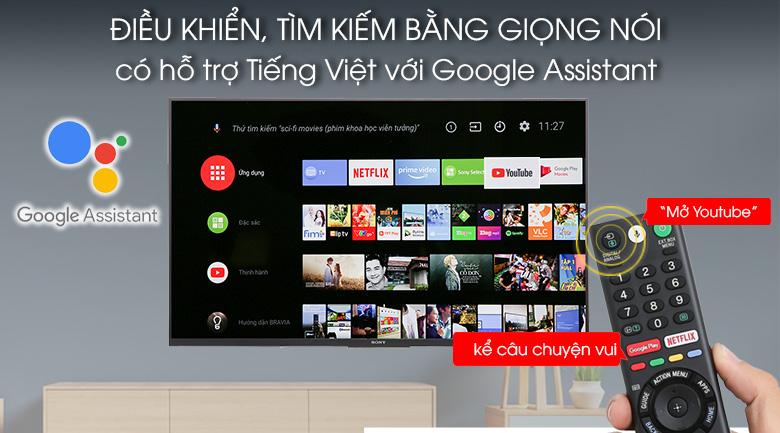 Điều khiển, tìm kiếm bằng giọng nói bằng tiếng Việt trên Android Tivi Sony 4K 43 inch KD-43X8500F