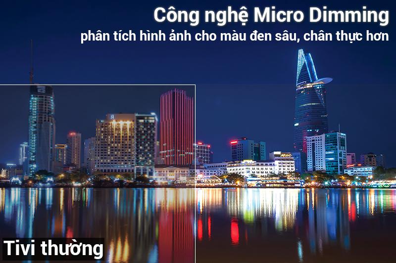 Công nghệ Micro Dimming Smart tivi TCL 4K 50 inch L50P62